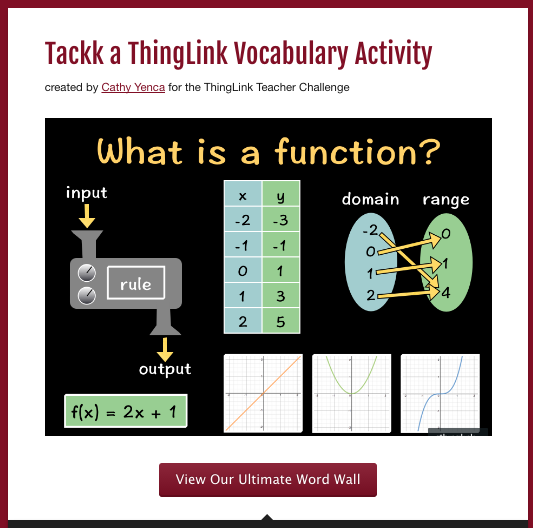 Tackk ThingLink Vocabulary